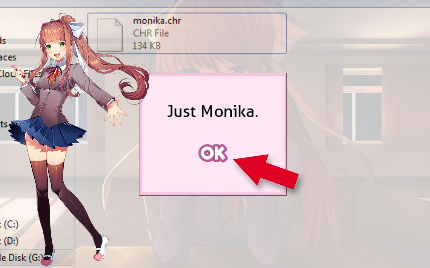 Doki Doki Literature Club How To Save Monika