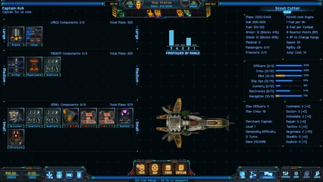 Star Traders: Frontiers - Scout Cutter: The Peaceful Warrior