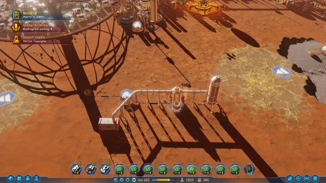Surviving Mars - Long Spidery Power Cables and Pipes? Too Much Maintenance?