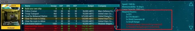 Starship Corporation - Improving Ship Ratings