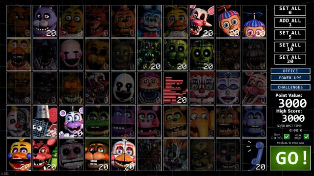 Ultimate Custom Night - Easy 3000 Points