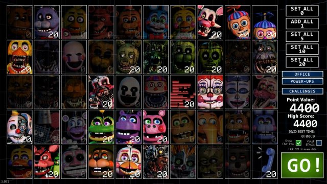 Ultimate Custom Night - Easy 4400 Points