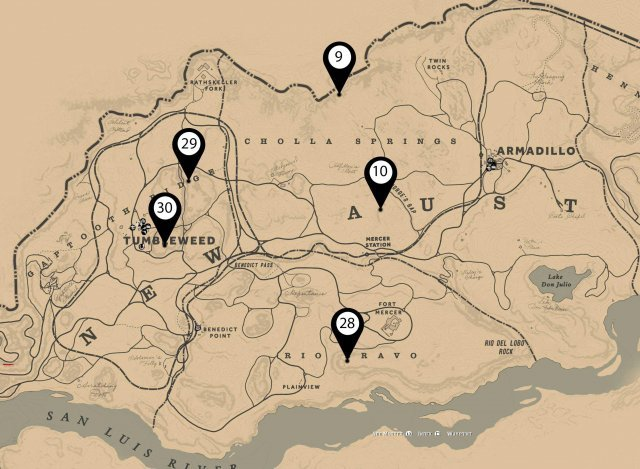 Red Dead Redemption 2 - All Dinosaur Bones Locations