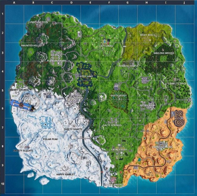 Fortnite Battle Royale - All Chilly Gnome Locations Guide (Season 7)
