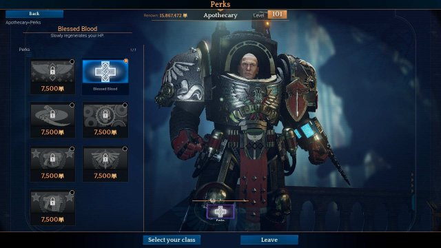 Space Hulk: Deathwing - Master Apothecary / Front Line Healer Tank